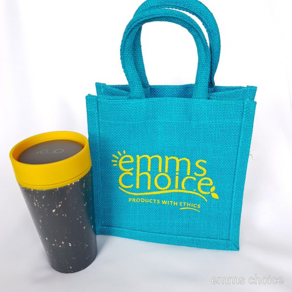 rcup and lunch bag