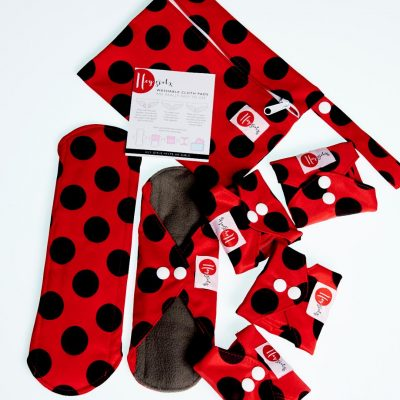 set of reusable cloth pads