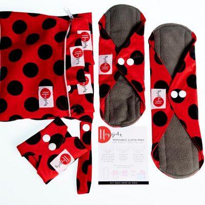 pack of reusable sanitary pads
