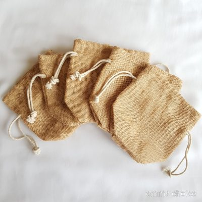small jute pouch